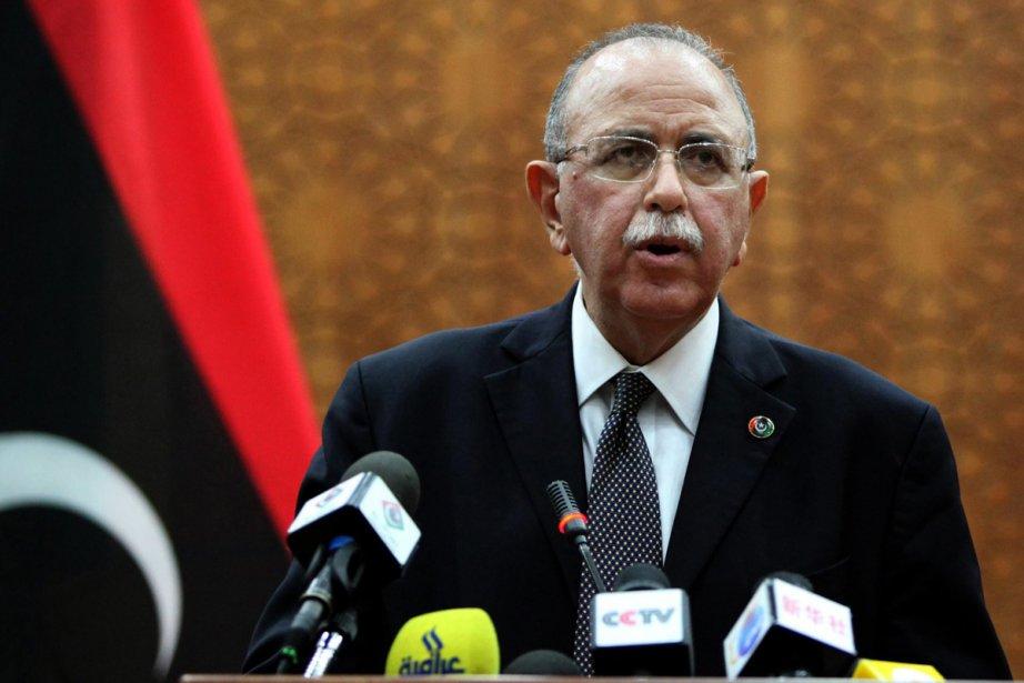 Le premier ministre intérimaire, Abdurrahim El-Keib, a indiqué... (Photo: Archives Associated Press)