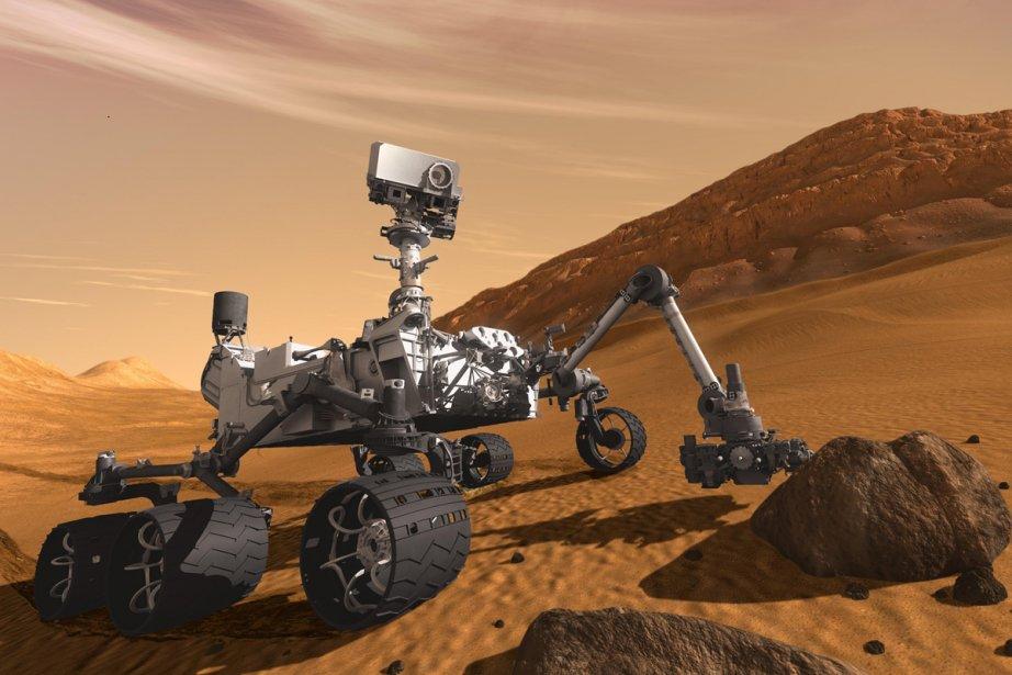 La NASA a annoncé jeudi que Curiosity, un... (Image fournie par la NASA, Reuters)
