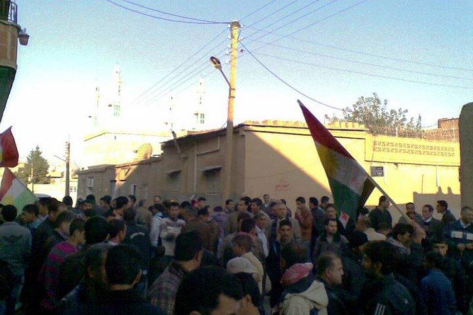 Une manifestation à Amude dimanche dernier.... (Photo: Archives Reuters)