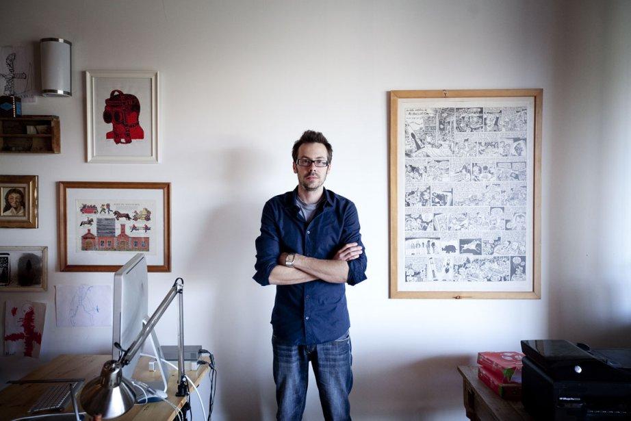 L'attrait de Pascal Blanchet pour le dessin lui... (Photo: Marco Campanozzi, La Presse)
