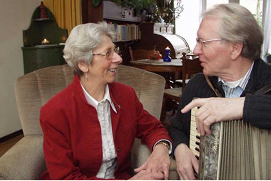Threes van Dijck et Jan Peijnenburg, 85 ans,... (Photo fournie par la famille)