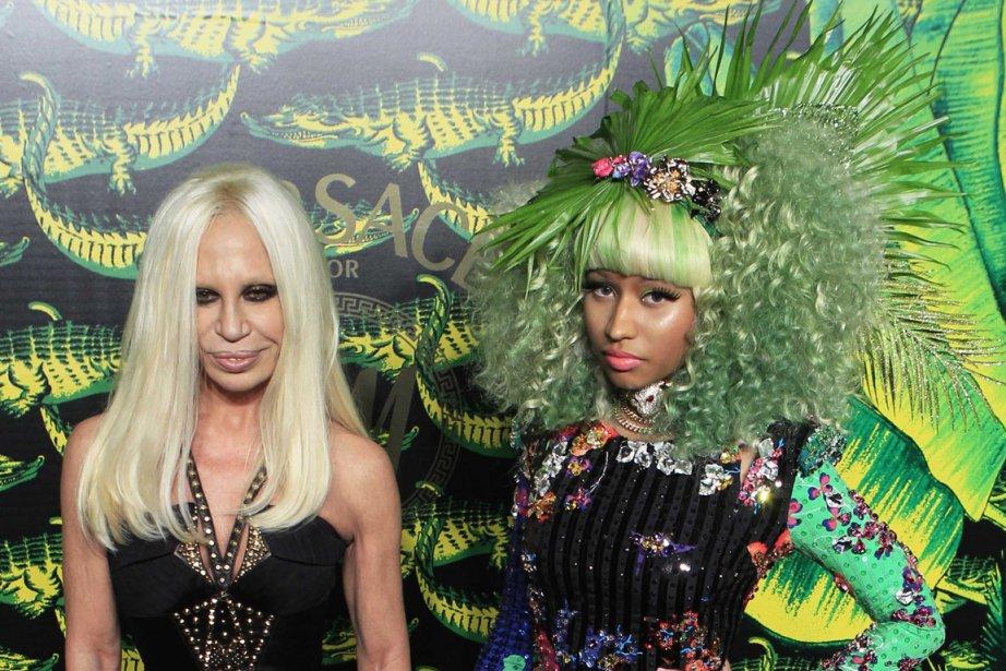 Donatella Versace et la chanteuse Nicki Minaj lors... (Photo Lucas Jackson, Reuters)
