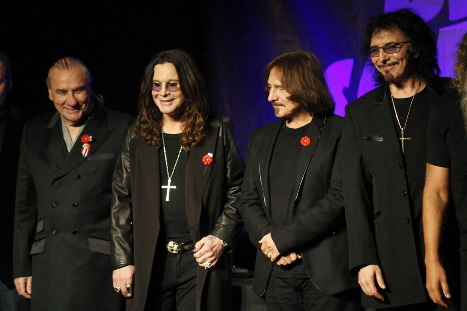 Les membres du groupe Black Sabbath, de gauche... (Photo: DAVID MCNEW, Reuters)