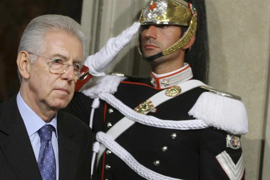 Mario Monti, nouveau premier ministre de l'Italie.... (Photo AP)