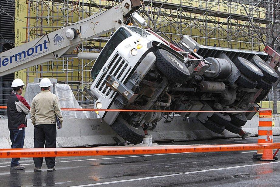Le boulevard René-Lévesque sera fermé pour  un... (Photo: Patrick Sanfaçon, La Presse)