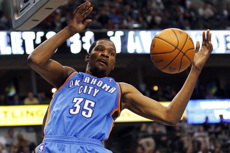 Kevin Durant a aussi été le meilleur marqueur... (Photo: Reuters)
