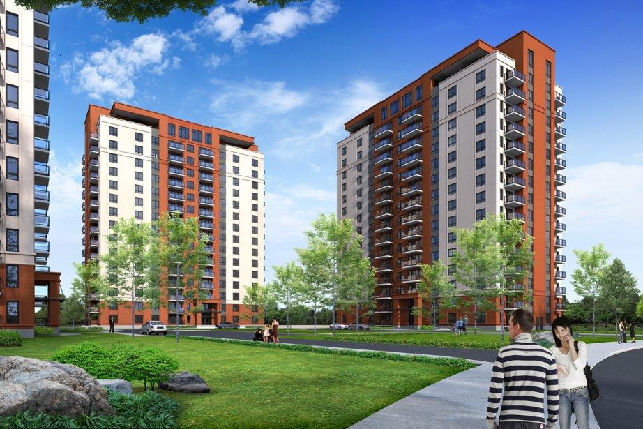 Construction Voyer prévoit bâtir trois immeubles de 16... (Illustration fournie par Construction Voyer)