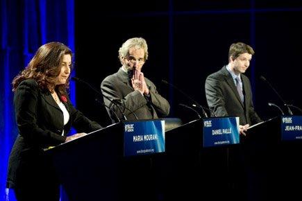 Maria Mourani, DanielPailléet Jean-François Fortin lors du débat... (Photo: Le Soleil)