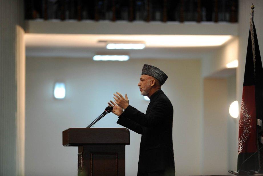 Le président afghan Hamid Karzaï a insisté sur... (Photo:  Shah Marai, Reuters)