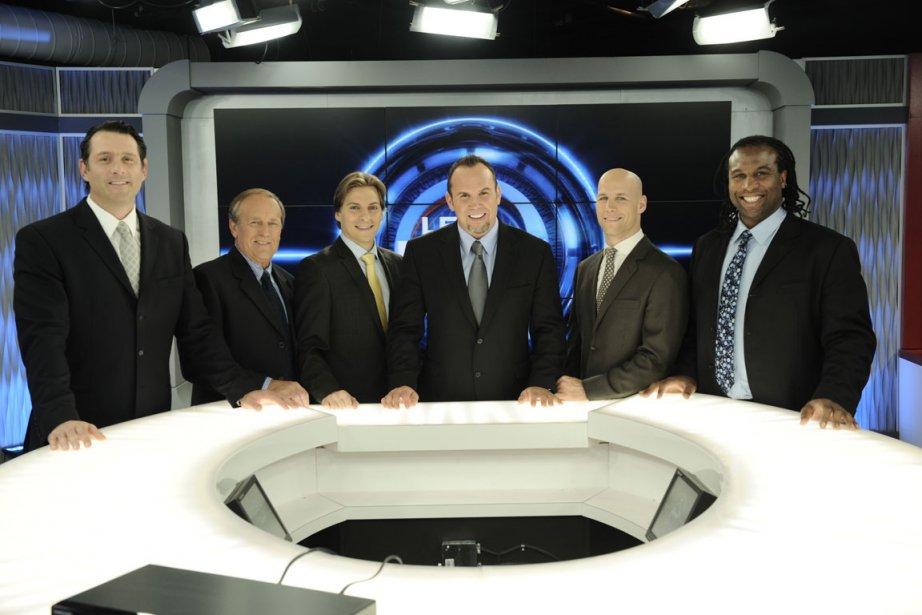 Dave Morissette entouré des débatteurs du Match.... (Photo fournie par TVA Sports)