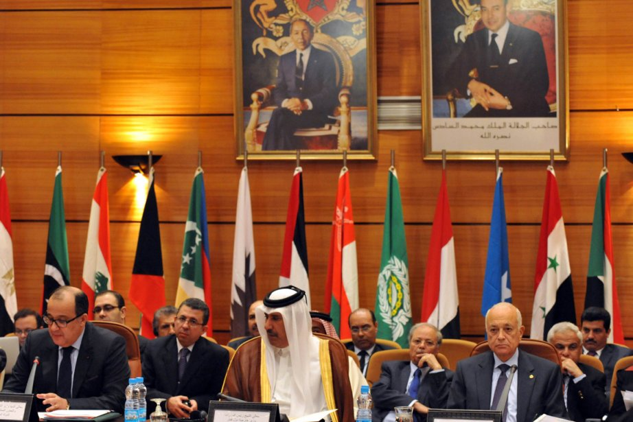 La Ligue arabe tenait aujourd'hui à Rabat au... (Photo: Abdelhak Senna, AFP)
