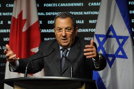 Ehud Barak a répondu aux questions des journalistes... (Photo: PC)