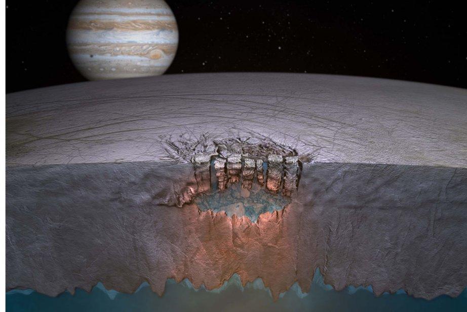 Cette illustration démontre les lacs qui pourraient se... (Photo: Britney Schmidt, Reuters)