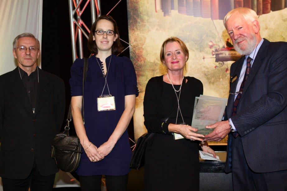 Richard Foisy, Sarah Mainguy et Michèle Grandbois, trois... (Photo: Salon du livre de Montréal)