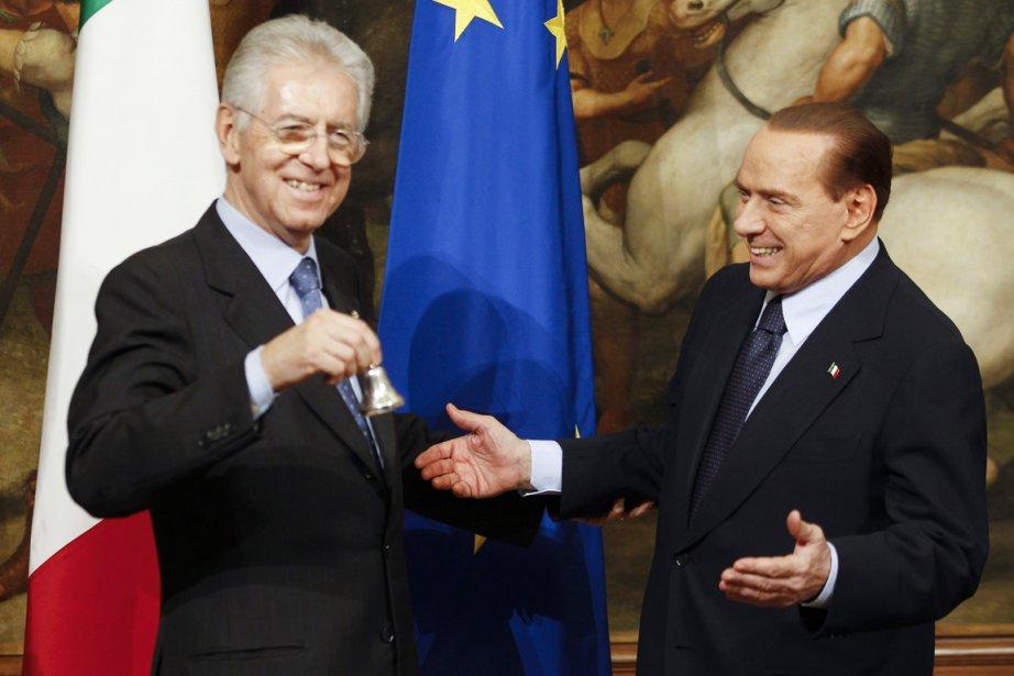 Changement de garde à Rome: le premier ministre... (Photo: Stefano Rellandini, Reuters)
