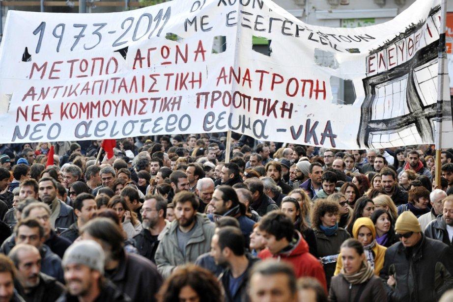Le 17 novembre, les Grecs  commémorent de... (Photo: Louisa Gouliamaki, AFP)