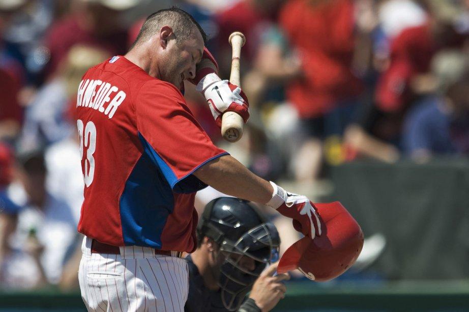 Brian Schneider a maintenu une moyenne de ,176... (Photo: Steve Nesius, Archives Reuters)