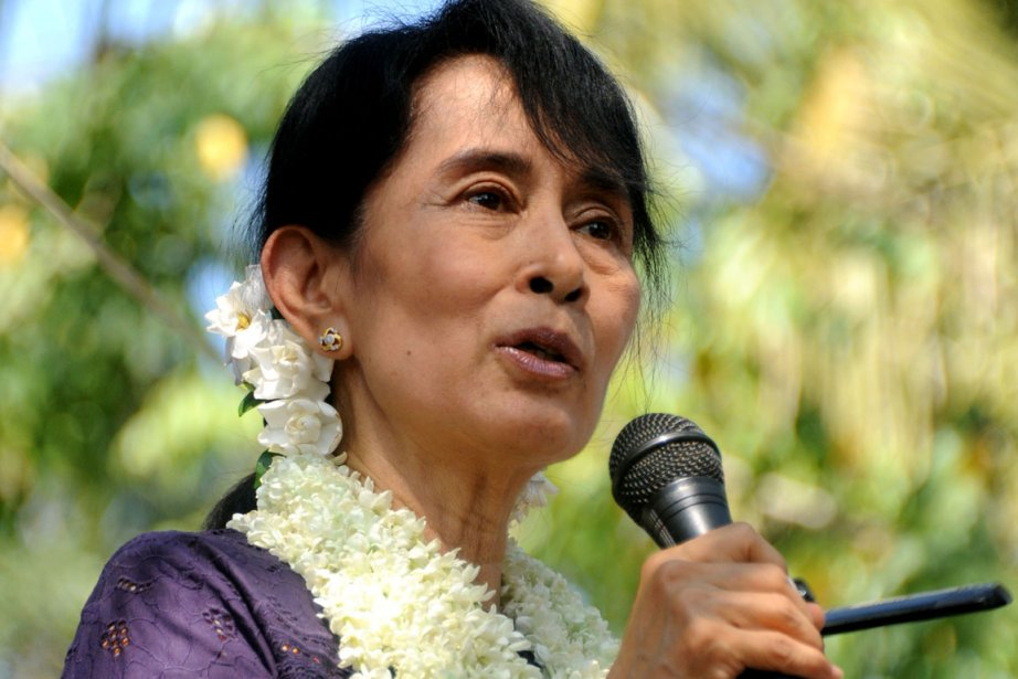 Aung San Suu Kyi... (Photo: Soe Than WIN, AFP)