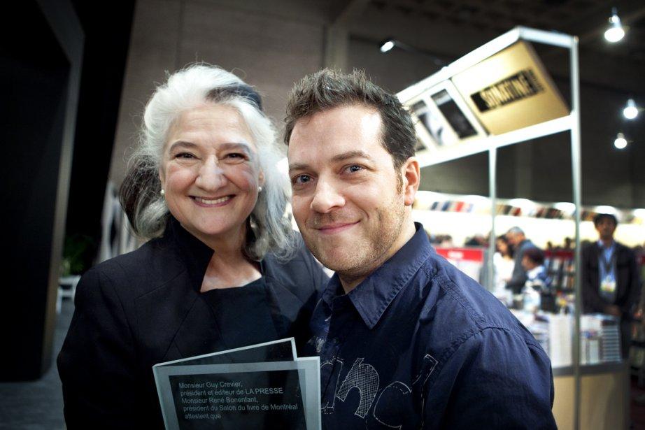 Les deux récipiendaires, Marie Laberge et Tristan Demers.... (Photo: Marco Campanozzi, La Presse)