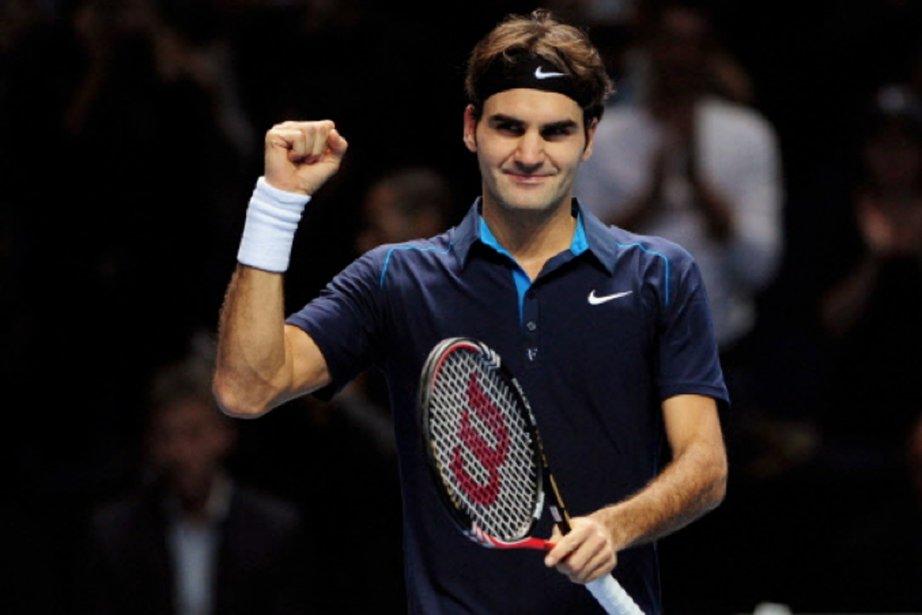 Federer après sa victoire contre Tsonga.... (Photo Leon Neal, AFP)