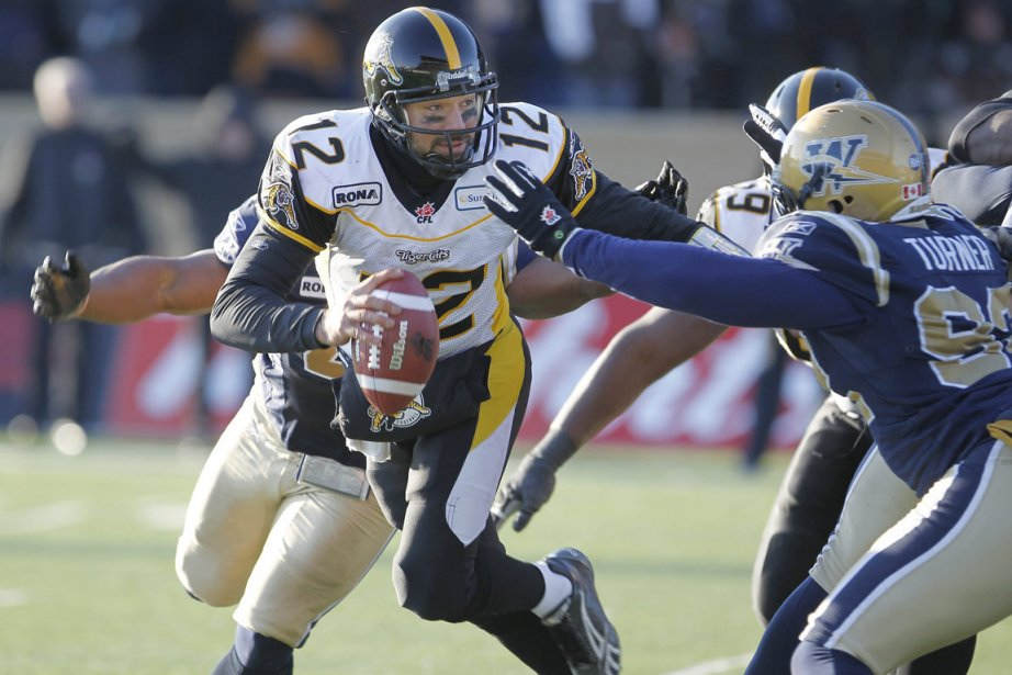 Le quart-arrière des Tiger-Cats de Hamilton, Quinton Porter,... (Photo: Trevor Hagan, PC)
