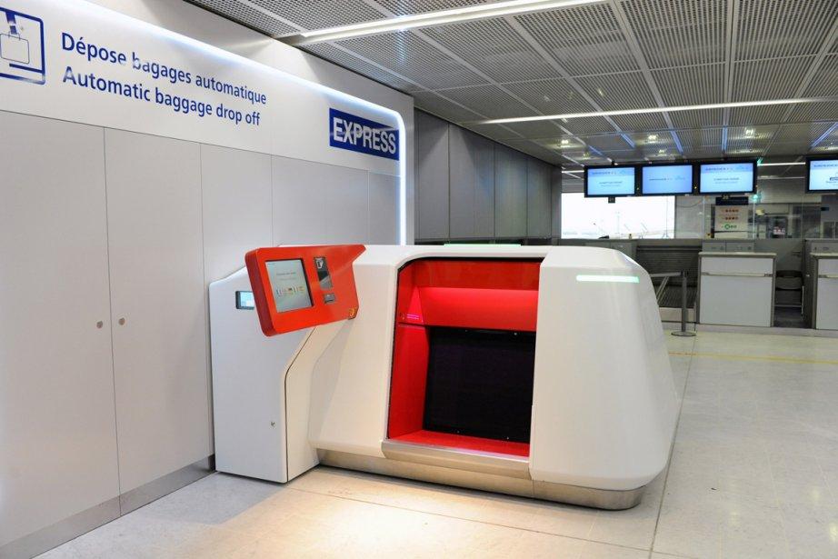 Le dépose bagage automatique de l'aéroport d'Orly... (Photo: AFP)