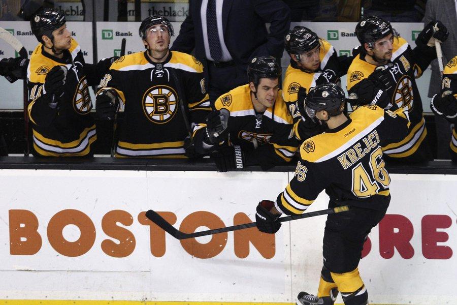 Les Bruins de Boston ont remporté leurs huit... (Photo: AP)
