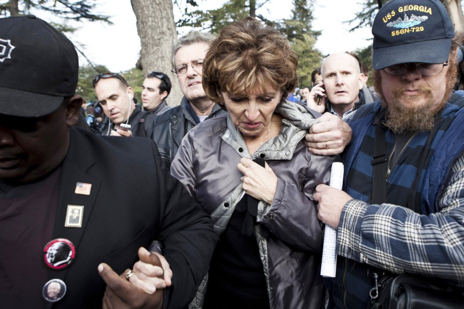 La rectrice de l'Université, Linda Katehi, s'est adressée... (Photo: Max Whittaker, Reuters)