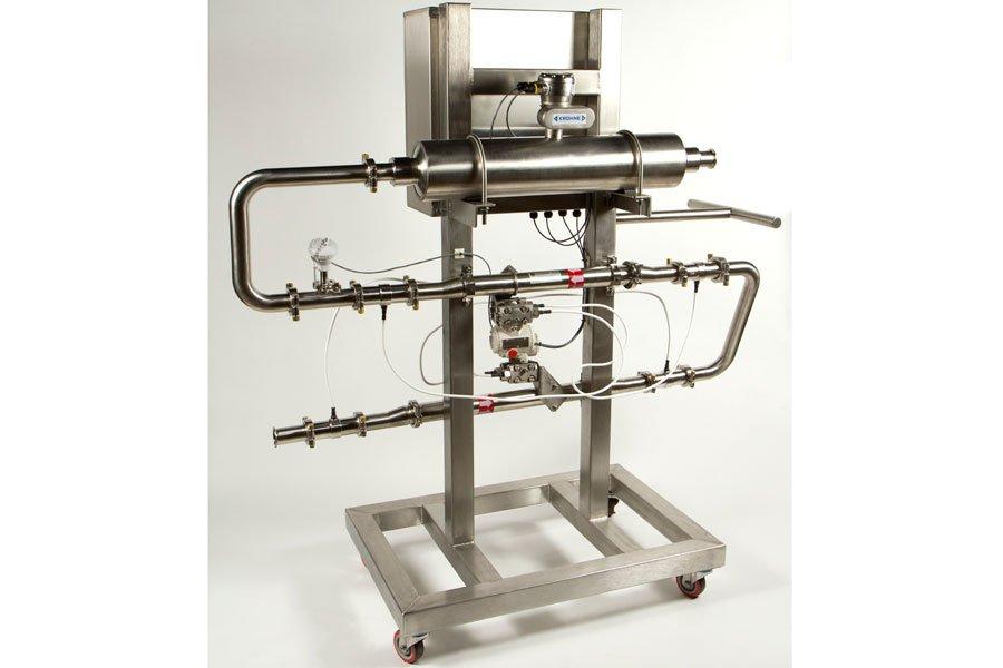 Le Viscoline est un tuyau instrumenté capable de... (Photo fournie par Vionec Technologies)