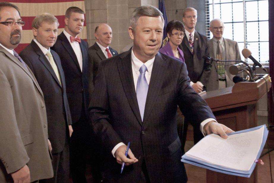 Le gouverneur du Nebraska Dave Heinenman a indiqué... (Photo: Nati Harnik, AP)