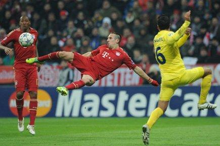 Franck Ribéry a inscrit deux buts dans la... (Photo: AFP)
