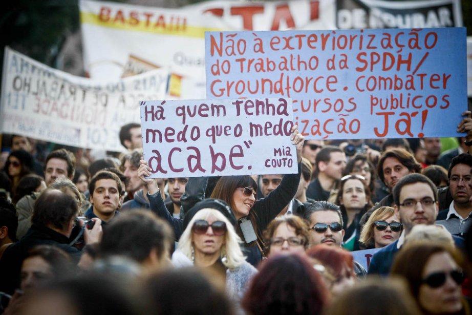 Dans l'après-midi, une trentaine de manifestations se sont... (Photo: Patricia de Melo Moreira, AFP)