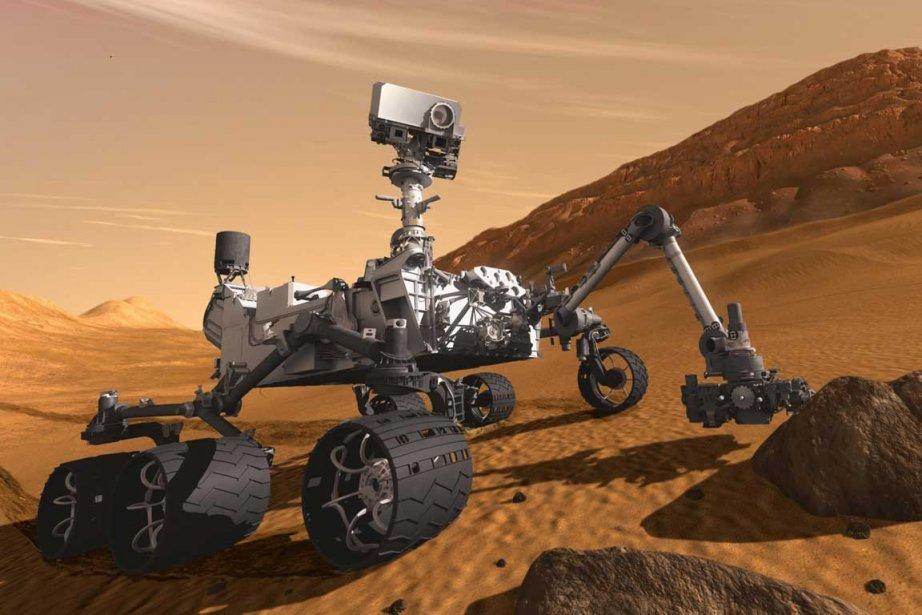 Vu sa taille,Curiosity ne pourra atterrir en chute... (Photo AP)