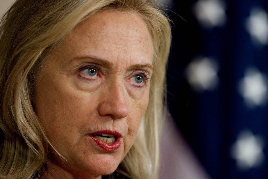 La secrétaire d'État Hillary Clinton a présenté, conjointement... (Photo: PAUL J. RICHARDS, AFP)