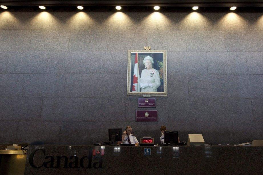 Un tableau de la reine d'Angleterre a été... (Photo: PC)