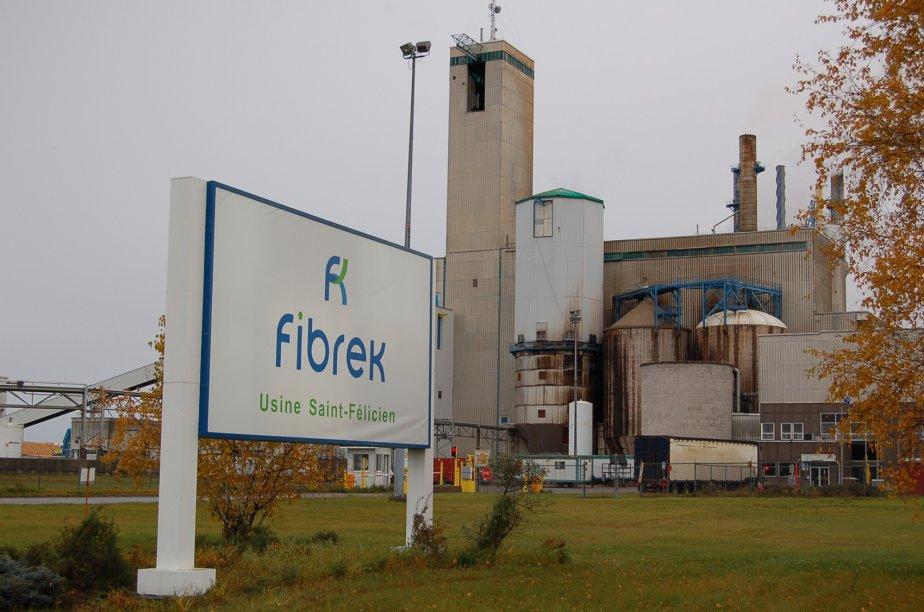 L'usine Fibrek de Saint-Félicien... (Le Quotidien, Archives)