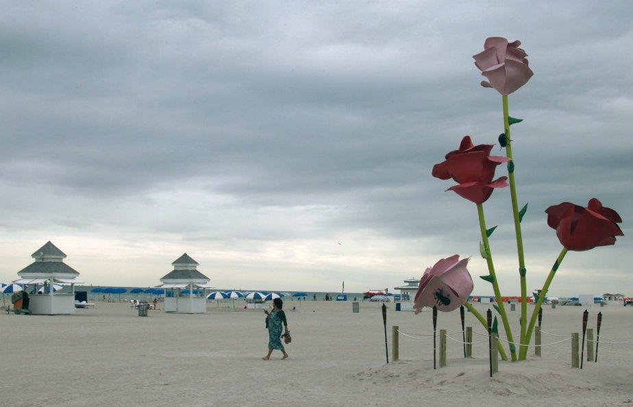 Des roses géantes semblent avoir poussé sur cette plage de Miami. Il s'agit en fait de la sculpture «65th Street» de l'artiste Will Rymans, installée dans le cadre de l'événement Art Basel Miami Beach, qui se tient de mercredi (30 novembre) à dimanche (4 décembre). | 29 novembre 2011