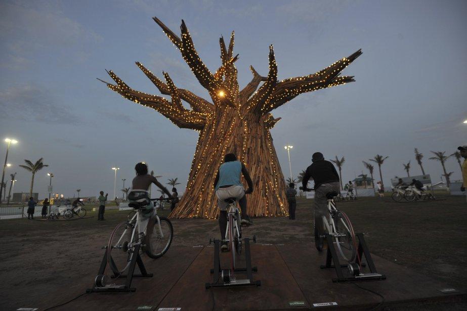 Trois Sud-Africains font scintiller un baobab grâce à l'énergie produite... | 2011-11-30 00:00:00.000