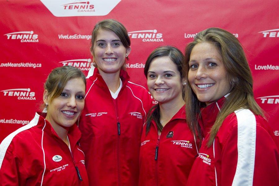 Stéphanie Dubois, Rebecca Marino, Aleksandra Wozniak et Marie-Ève... (Photo: Alain Roberge, La Presse)