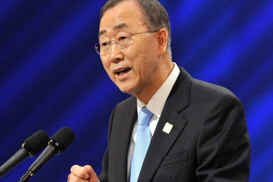 Ban Ki-moon... (Photo AFP)