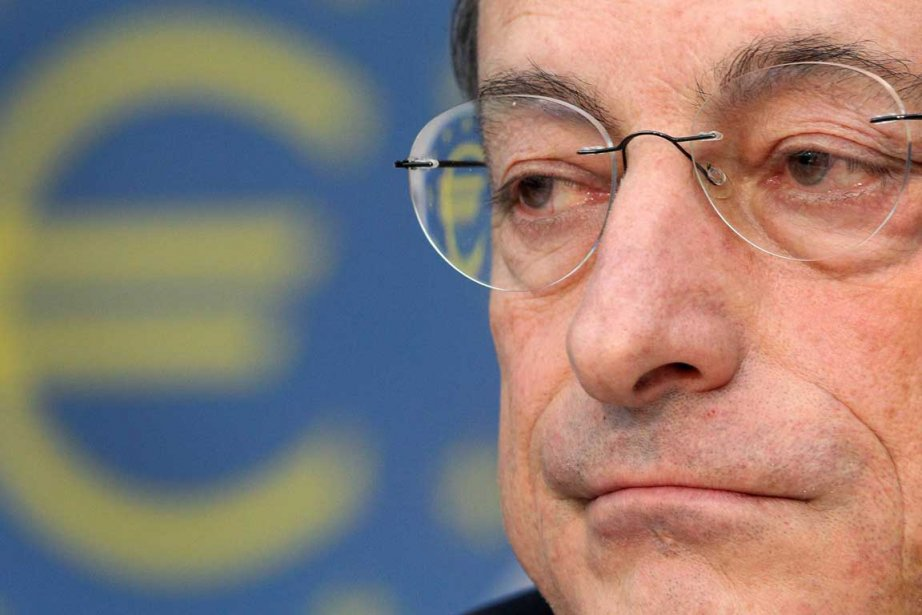 Le président de la BCE, Mario Draghi, a... (Photo AFP)