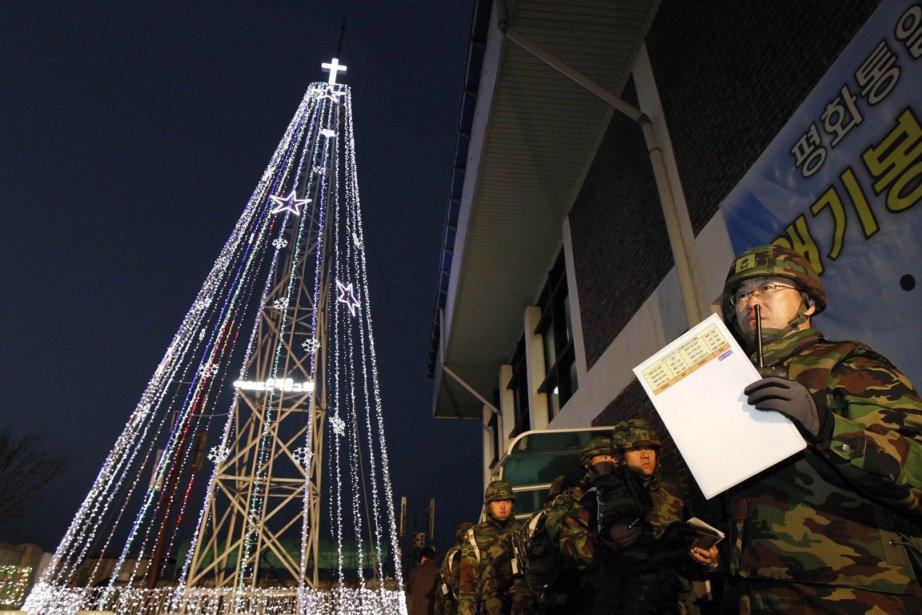 La Corée du Sud avait dressé, en décembre... (Photo: AFP)