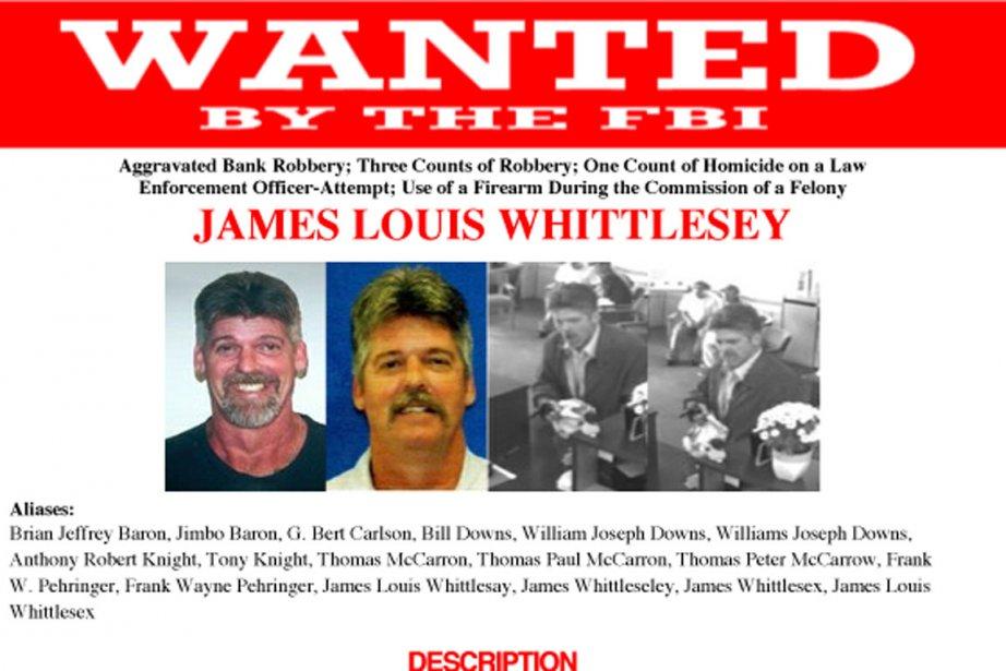 Le FBI (Federal Bureau of Investigation) recherchait Whittlesey... (Photo tirée du site du FBI)