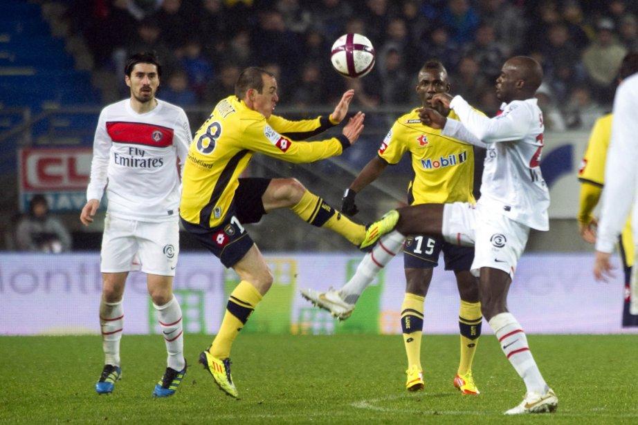 Le match PSG contre Sochaux, samedi.... (Photo Sebastien Bozon, AFP)