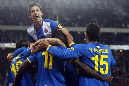 L'Espanyol, 8e avec 20 points, a doublé l'Atletico... (Photo: Reuters)