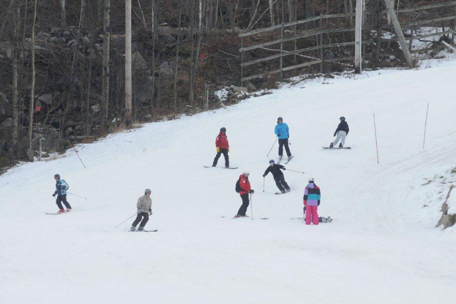 La neige génère des retombées économiques importantes dans... (Photo: Janick Marois, Archives La Voix de l'Est)