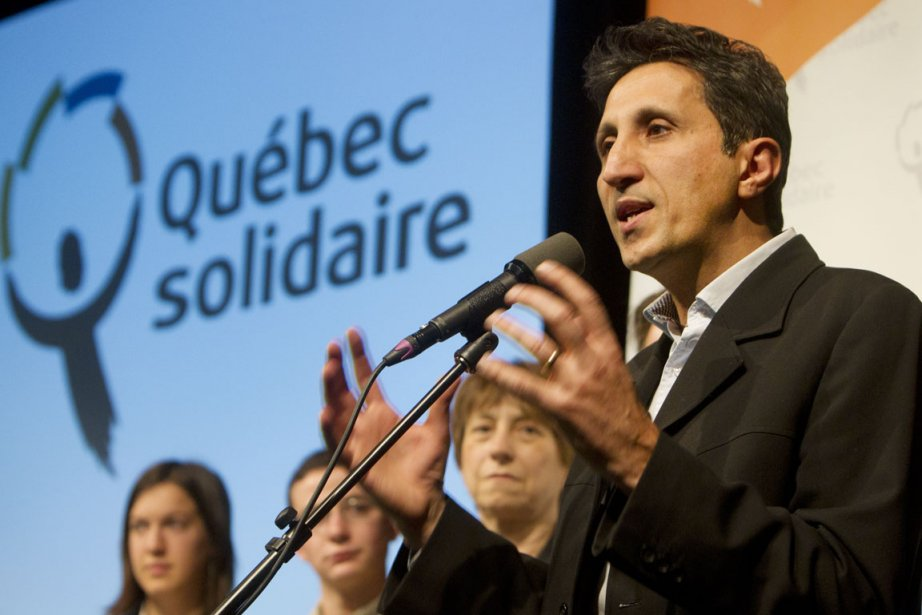 Ce week-end, lors du congrès de Québec solidaire... (Photo: Robert Skinner, La Presse)