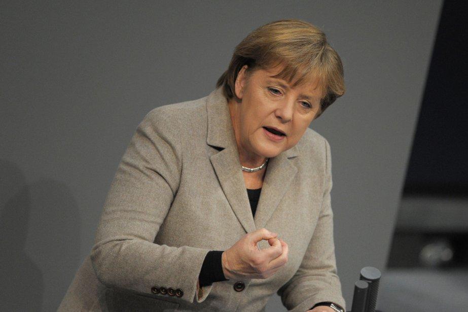 Angela Merkel.... (Photo AFP)