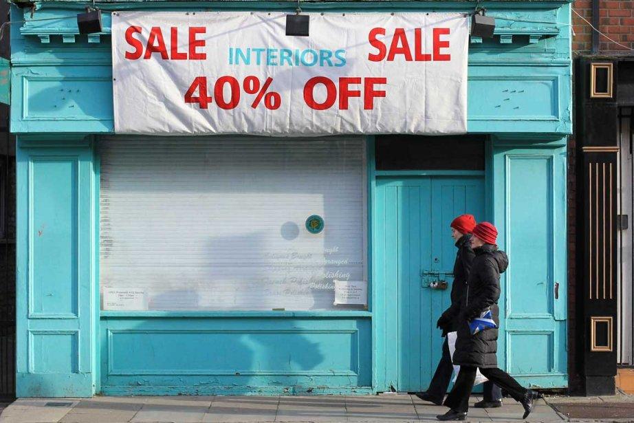 Les commerçants ont la vie dure à Dublin...... (Photo AFP)