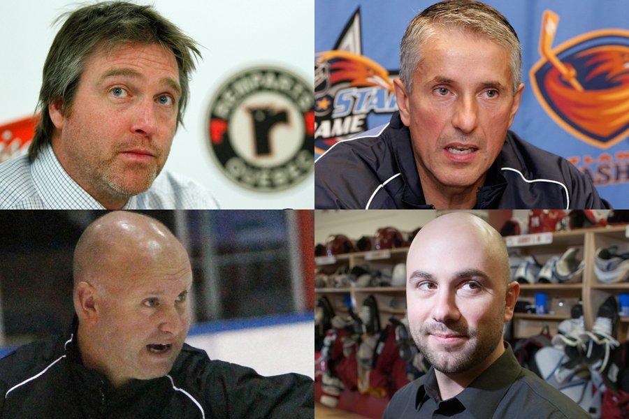Quatre candidats potentiels pour le poste d'entraîneur-chef du... (Photomontage LaPresse.ca)